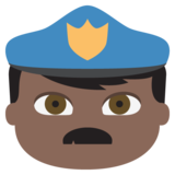 Police Officer: Dark Skin Tone on JoyPixels 2.0