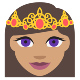Princess: Medium Skin Tone on JoyPixels 2.0