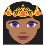 Princess: Medium-Dark Skin Tone on JoyPixels 2.0