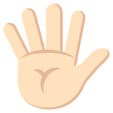 Hand with Fingers Splayed: Light Skin Tone on JoyPixels 2.0