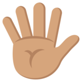 Hand with Fingers Splayed: Medium Skin Tone on JoyPixels 2.0