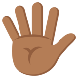 Hand with Fingers Splayed: Medium-Dark Skin Tone on JoyPixels 2.0