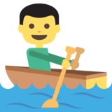 Person Rowing Boat on JoyPixels 2.0