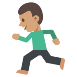 Person Running: Medium Skin Tone on JoyPixels 2.0