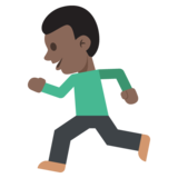 Person Running: Dark Skin Tone on JoyPixels 2.0