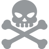 Skull and Crossbones on EmojiOne 2.0