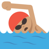 Person Swimming: Medium Skin Tone on JoyPixels 2.0