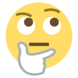 Thinking Face on EmojiOne 2.0