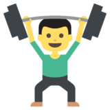 Person Lifting Weights on JoyPixels 2.0