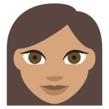 Woman: Medium Skin Tone on JoyPixels 2.0