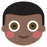 Boy: Dark Skin Tone on JoyPixels 2.1