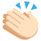 Clapping Hands: Light Skin Tone on EmojiOne 2.1