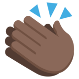 Clapping Hands: Dark Skin Tone on JoyPixels 2.1