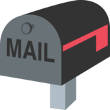 Closed Mailbox with Lowered Flag on JoyPixels 2.1
