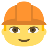 Construction Worker on JoyPixels 2.1