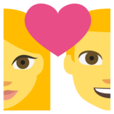 Couple With Heart on JoyPixels 2.1