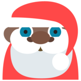 Santa Claus: Dark Skin Tone on JoyPixels 2.1