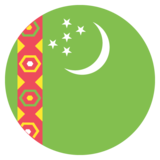 Flag: Turkmenistan on JoyPixels 2.1