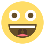 Grinning Face on EmojiOne 2.1