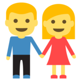 Woman and Man Holding Hands on JoyPixels 2.1