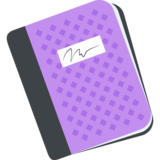 Notebook with Decorative Cover on JoyPixels 2.1