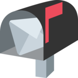 Open Mailbox with Raised Flag on JoyPixels 2.1