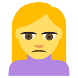 Person Frowning on JoyPixels 2.1