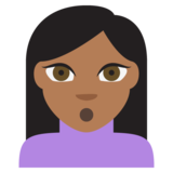 Person Pouting: Medium-Dark Skin Tone on JoyPixels 2.1