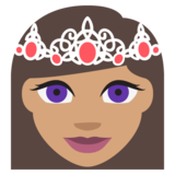 Princess: Medium Skin Tone on JoyPixels 2.1