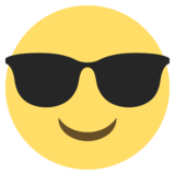 Smiling Face with Sunglasses on JoyPixels 2.1