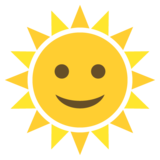 Sun with Face on JoyPixels 2.1