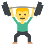 Person Lifting Weights on JoyPixels 2.1