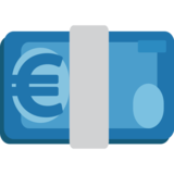 Euro Banknote on JoyPixels 1.0