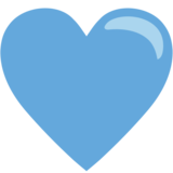 Blue Heart on JoyPixels 1.0