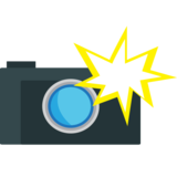 Camera with Flash on JoyPixels 1.0