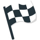 Chequered Flag on EmojiOne 1.0