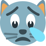 Crying Cat on JoyPixels 1.0