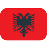 Flag: Albania on JoyPixels 1.0