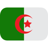 Flag: Algeria on JoyPixels 1.0