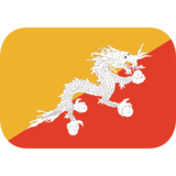 Flag: Bhutan on JoyPixels 1.0