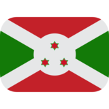 Flag: Burundi on JoyPixels 1.0