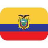 Flag: Ecuador on JoyPixels 1.0