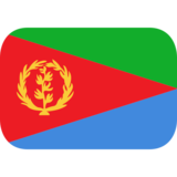 Flag: Eritrea on JoyPixels 1.0