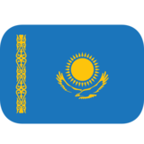 Flag: Kazakhstan on JoyPixels 1.0