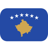 Flag: Kosovo on JoyPixels 1.0