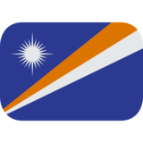 Flag: Marshall Islands on JoyPixels 1.0