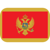 Flag: Montenegro on JoyPixels 1.0