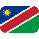 Flag: Namibia on JoyPixels 1.0