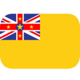 Flag: Niue on JoyPixels 1.0
