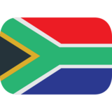 Flag: South Africa on JoyPixels 1.0